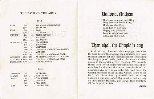 2nd Army Thanksgiving Service card.