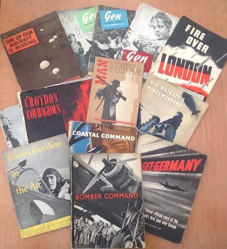 13 British wartime information booklets