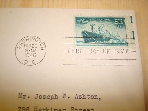 Interesting letters: U.S. Honoring The Armed Forces 1945 and 1946