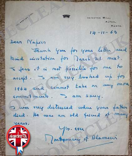 Montgomery of Alemein letter.