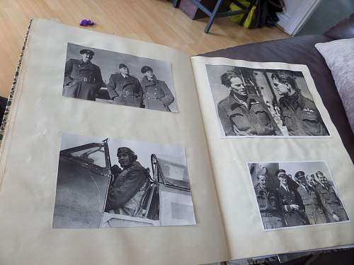 Interesting Fea market find SOE /RAF and free French scrap book