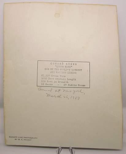 Bernard Montgomery signed photo to John Moaney