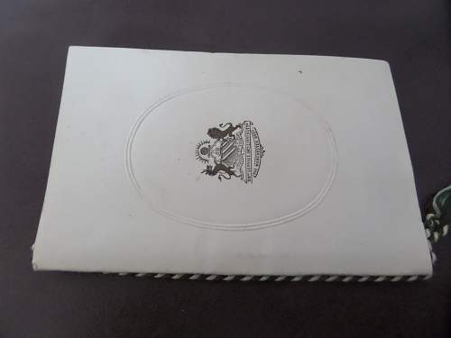 New Fea market find ww1 Manchester Regt Chirstmas card