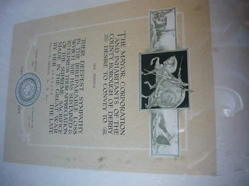 WW1 Death Certificate