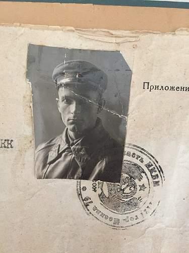 Military file of a podpolkovnik airforce