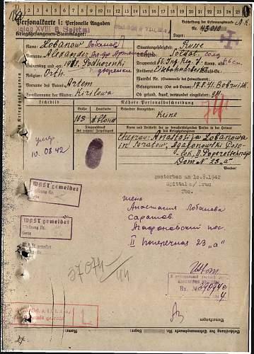 Translation needed - Soviet POW.