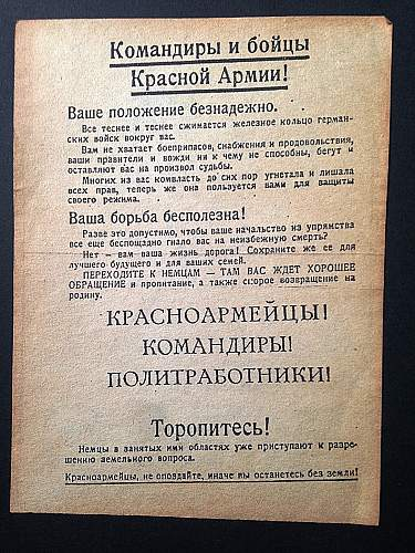 German Pass for Officers and Soldiers of the Soviet Army, ??? Translation Please