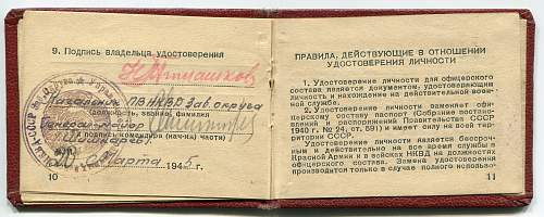 NKVD Identification Book