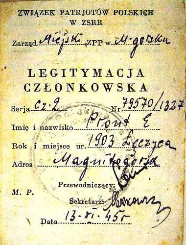 Polish ID in USSR  1945?