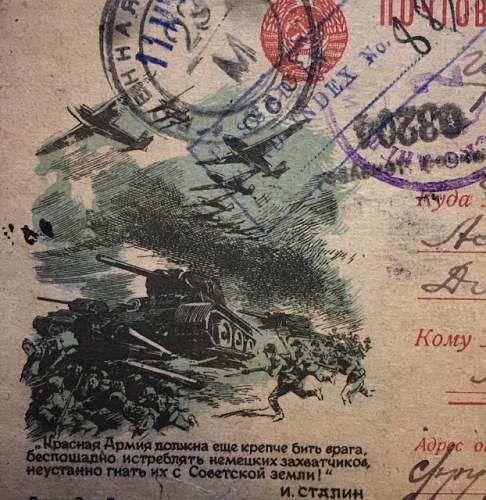 Red Army Letter Forms