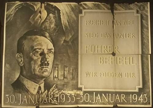 Freedom is the goal, Victory is our banner, Führer command, We will follow you Poster