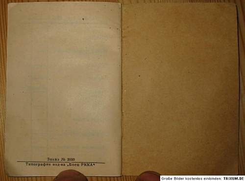 Russian soldier ID - 1942 ,soldier book