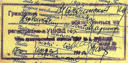 some help with Russian, 1940, passport...
