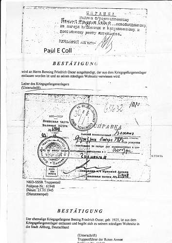 Prisoner release Document !!