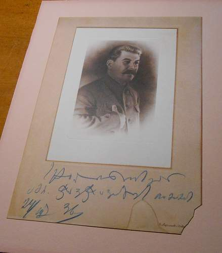 Stalin Card with Russian or Polish Writing Help Needed.
