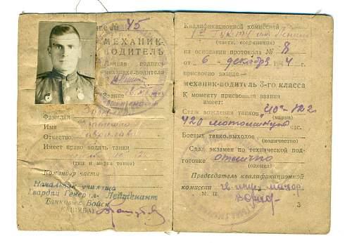 Tank driver License