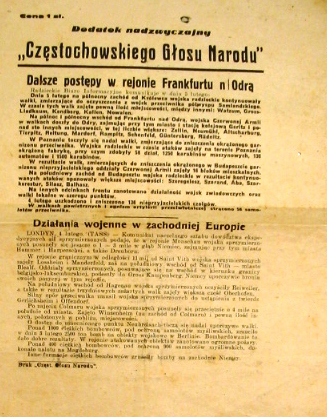 In Polish about capture of Frankfurt 1945??