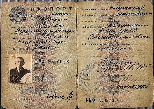 some help with Russian passport - 1940