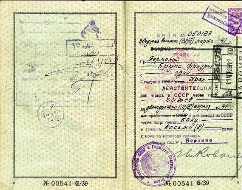 identifying signature of Soviet diplomat...Berlin