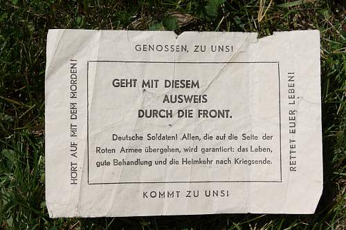 Surrender Propaganda leaflets