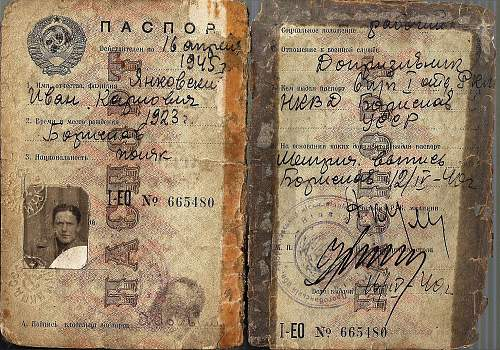 Soviet passport - occupied Poland?