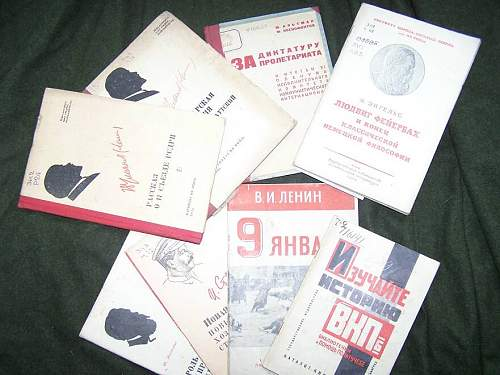 Commissars set: propaganda books which must have each comissar or propagandist