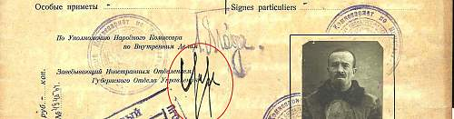 identifying early NKVD official signatures....
