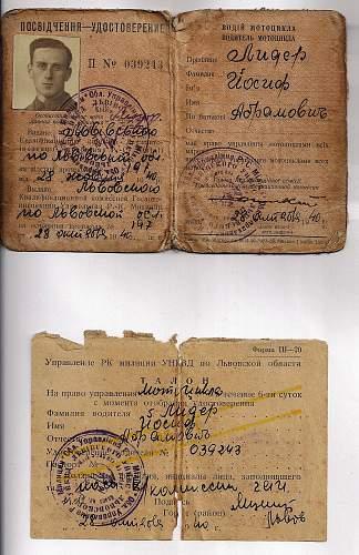 Lwow drivers license 1940?