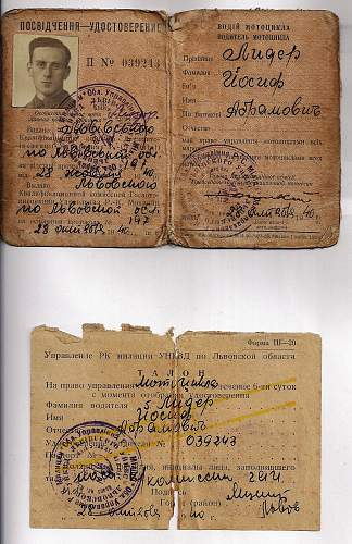 Lwow drivers license 1940?