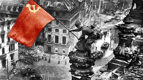 Click image for larger version.  Name:Meliton-Kantaria--a-Red-Army-soldier-and-an-ethnic-Georgian--raising-a-Soviet-flag-over-the-Reic.jpg Views:81 Size:74.2 KB ID:836701