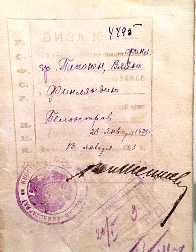 Early Soviet visas &