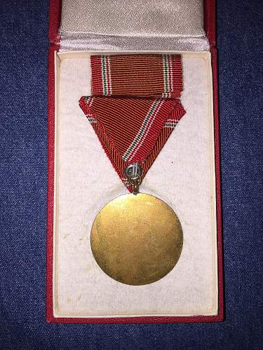 Hungarian 15 year service medal