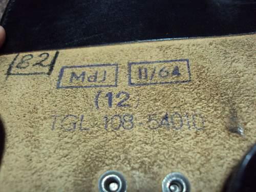 East german holster and belt markings ??