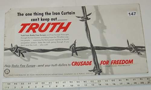Radio Free Europe Advertising Campaign 1960's?