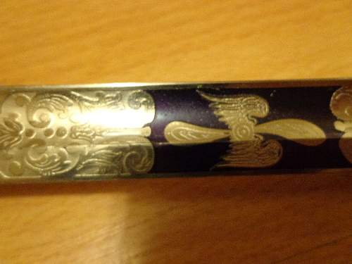 Romanian royal airforce sword