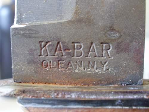 Marin k-bar knife