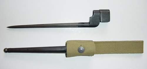 Click image for larger version.  Name:No4 MKI bayonet and scabbard..JPG Views:3455 Size:41.5 KB ID:115115