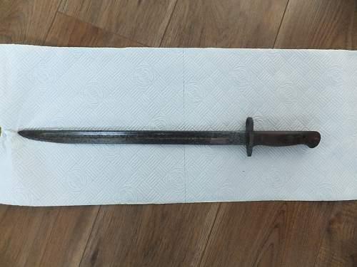 british bayonet -wilkinson 1907 + German W.K & C bayonet -ww1 ?