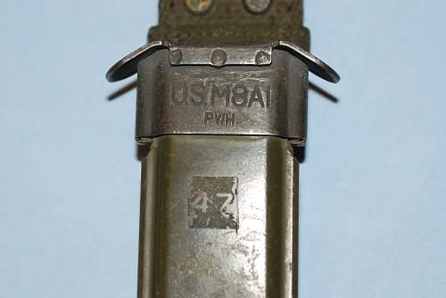 WWII US M4 Utica M1 Carbine Bayonet