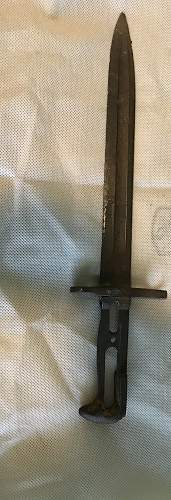Unknown US Bayonet from 1943