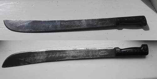 British 44 pattern 1945 dated machete