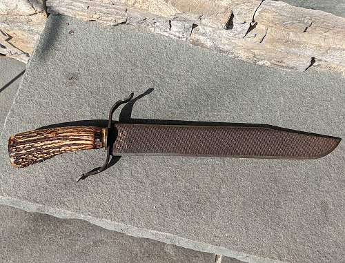 Theater Made stag horn Knife