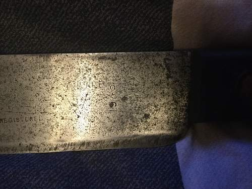 British Army (WW2?) Machete