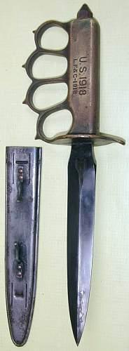 1918 knuckle knife