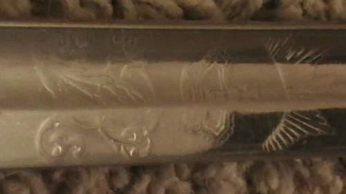 1827 British VR volunteer rifle sword