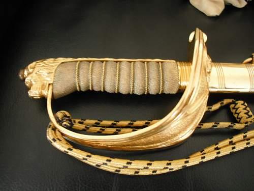 Ww2 british naval sword