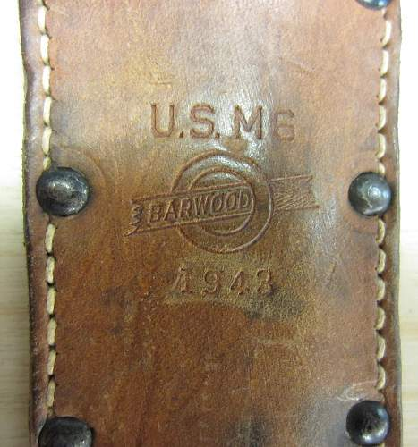 US M3 Fighting Knife in M6 Scabbard