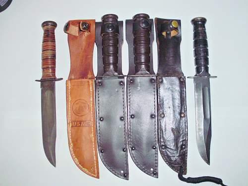 My new Camilus N.Y.  Ka-Bar Bowie Knife