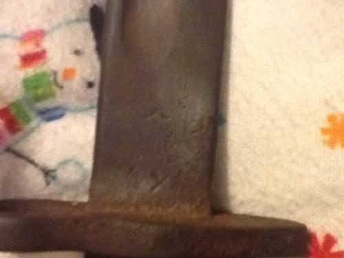 Need help with WWI 1907 pattern lee enfield m1 mk3 bayonet