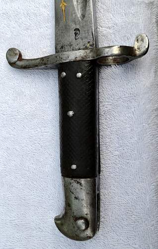 1856 English Enfield Bayonet with a little something extra.